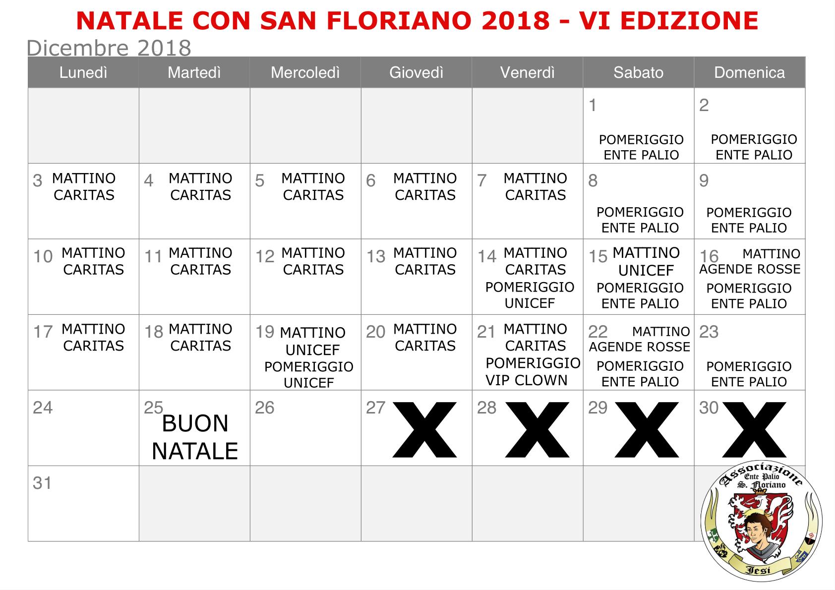 Calendario Attuale.Natale Con San Floriano 2018 Domanda Partecipazione
